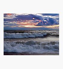 Waves on the Shore - Erie, PA Photographic Print