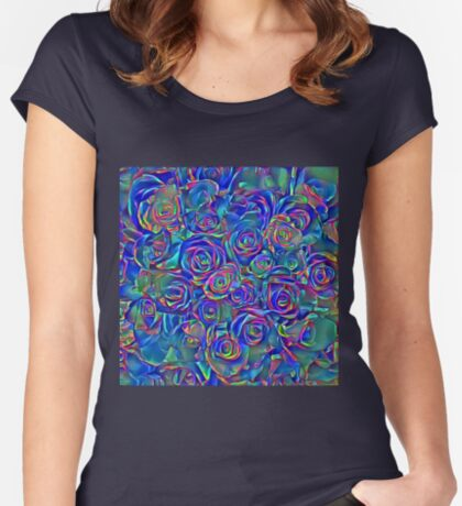 Roses of cosmic lights Fitted Scoop T-Shirt