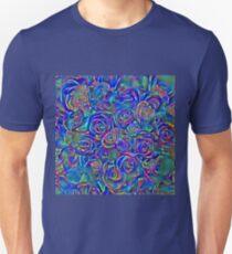 Roses of cosmic lights Unisex T-Shirt