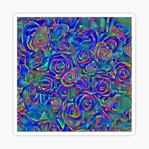 Roses of cosmic lights Sticker