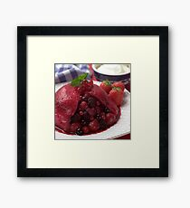 Summer Pudding Framed Print