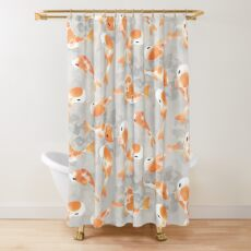 Japanese Koi Fish Shower Curtain