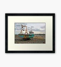 Guernsey Fischerboot Gerahmter Kunstdruck