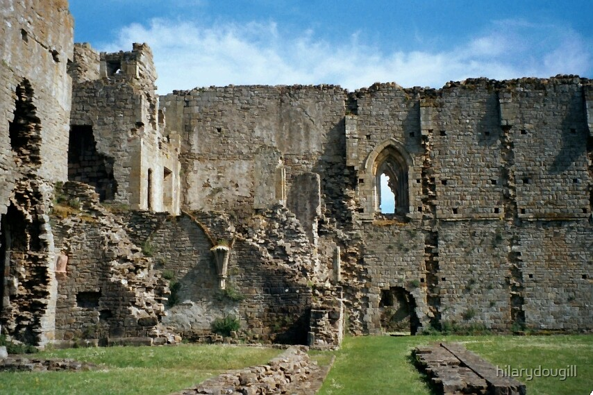 The inside of Easby Abbey by hilarydougill