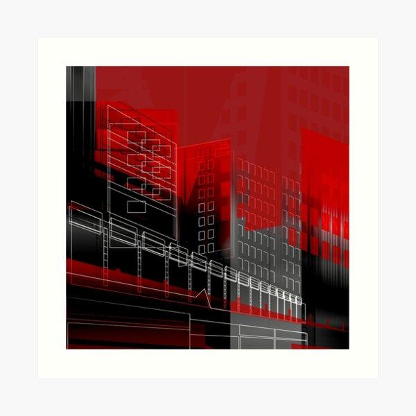 MANCHESTER Architectural Abstraction #08 Art Print