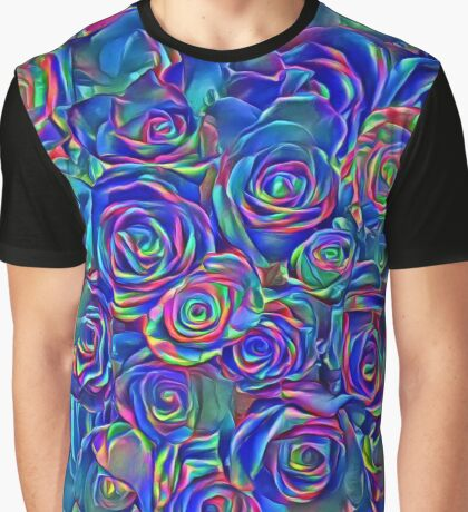 Roses of cosmic lights Graphic T-Shirt