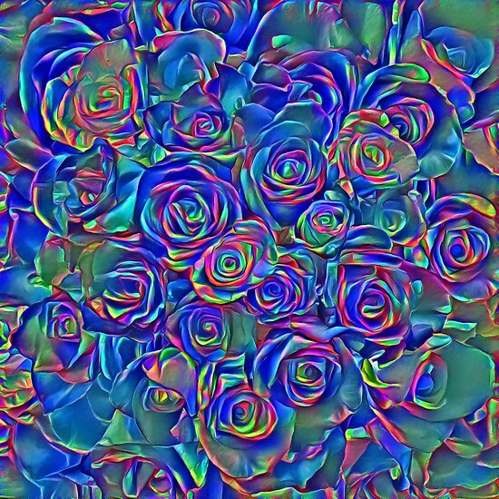 Roses of cosmic lights