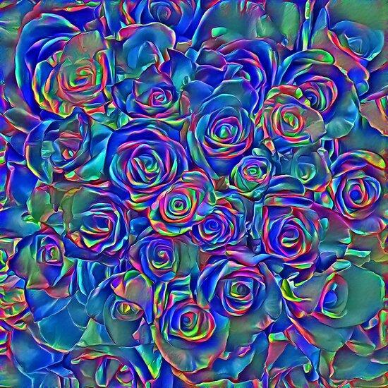 Roses of cosmic lights