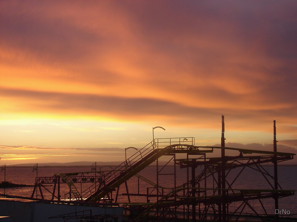 Roller Coaster at Sunrise by DrNo