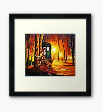 Waiting Back To The Future Framed Print