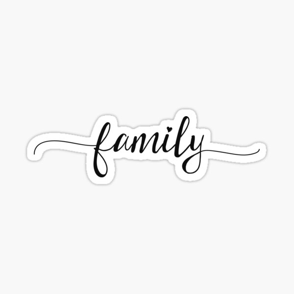 Family - Girly Typography Sticker