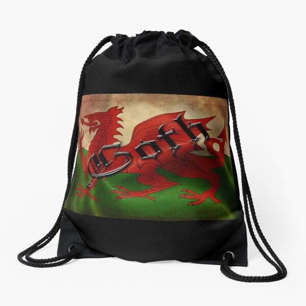 Welsh Flag Drawstring Bag