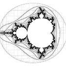Black - Linear Mandelbrot  by Rupert Russell