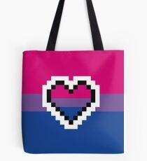 Bisexual Pride Pixel Heart Tote Bag