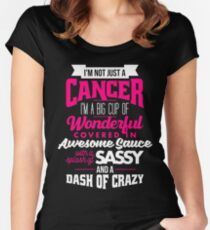 Zodiac Cancer Dash Of Crazy Sun Sign Women's Fitted Scoop T-Shirt