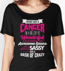 Zodiac Cancer Dash Of Crazy Sun Sign Women's Relaxed Fit T-Shirt
