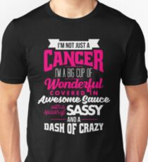 Zodiac Cancer Dash Of Crazy Sun Sign Unisex T-Shirt