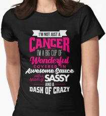 Zodiac Cancer Dash Of Crazy Sun Sign Womens Fitted T-Shirt