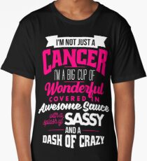 Zodiac Cancer Dash Of Crazy Sun Sign Long T-Shirt