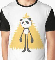 Pandalien glitch yellow Graphic T-Shirt