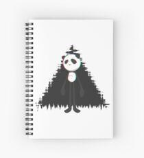 Pandalien glitch black Spiral Notebook