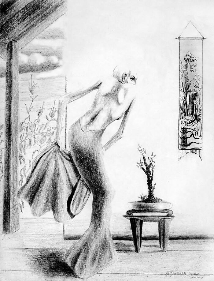 Woman & Plant by Brandon S.