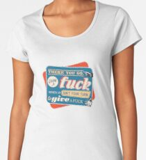 """""""Ain't Your Turn to Give a Fuck"""" - The Wire (Colorful Dark) Women's Premium T-Shirt"""