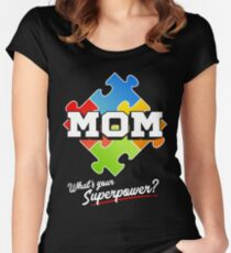 Autism Mom Puzzle What's Your Superpower Women's Fitted Scoop T-Shirt