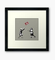 Banksy No Ball Games Framed Print