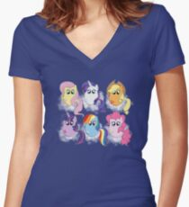 Friendship is Magic Women's Fitted V-Neck T-Shirt