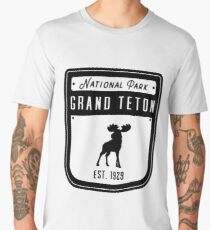 Grand Teton National Park - Jackson Hole Wyoming Badge II Men's Premium T-Shirt