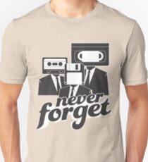 Never Forget Retro Cassette Floppy VHS Unisex T-Shirt