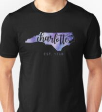 Charlotte, North Carolina (Purple)  Unisex T-Shirt