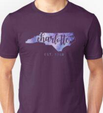 Charlotte, North Carolina (Purple)  Unisex T-Shirt