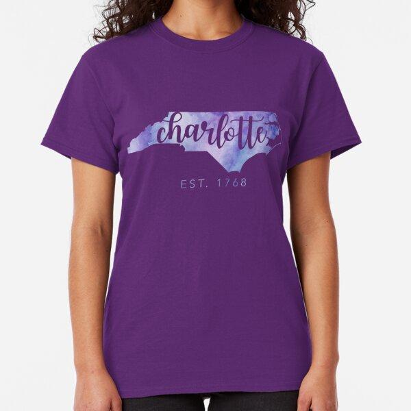 Charlotte, North Carolina (Purple)  Classic T-Shirt