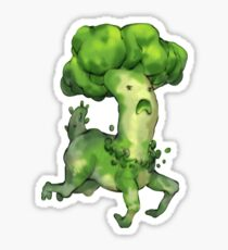 Frolicking Broccoli Monster Sticker