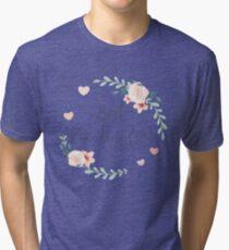 Best Grandma Ever Boho Chic Bohemian Floral Wreath Tri-blend T-Shirt