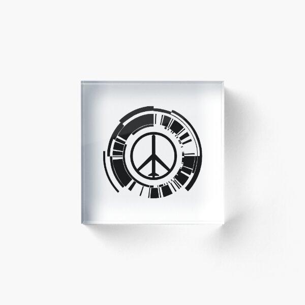 Peace Walker Logo Acrylic Block