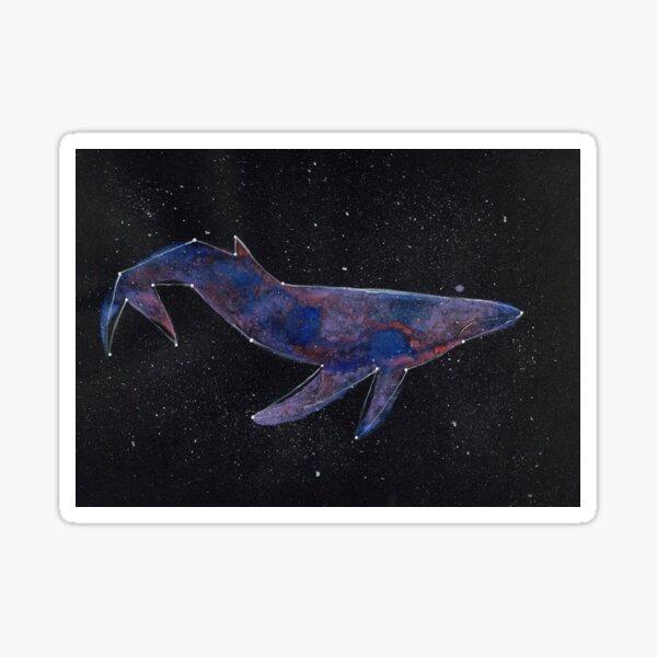 Constellation Galaxy Whale Sticker