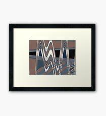 50s pattern Framed Print