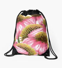 Coneflower design Drawstring Bag