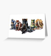 Voltron the Complete Team Greeting Card