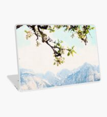 Apple Blossoms and Mountains  Laptop Skin