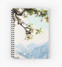 Apple Blossoms and Mountains  Spiral Notebook
