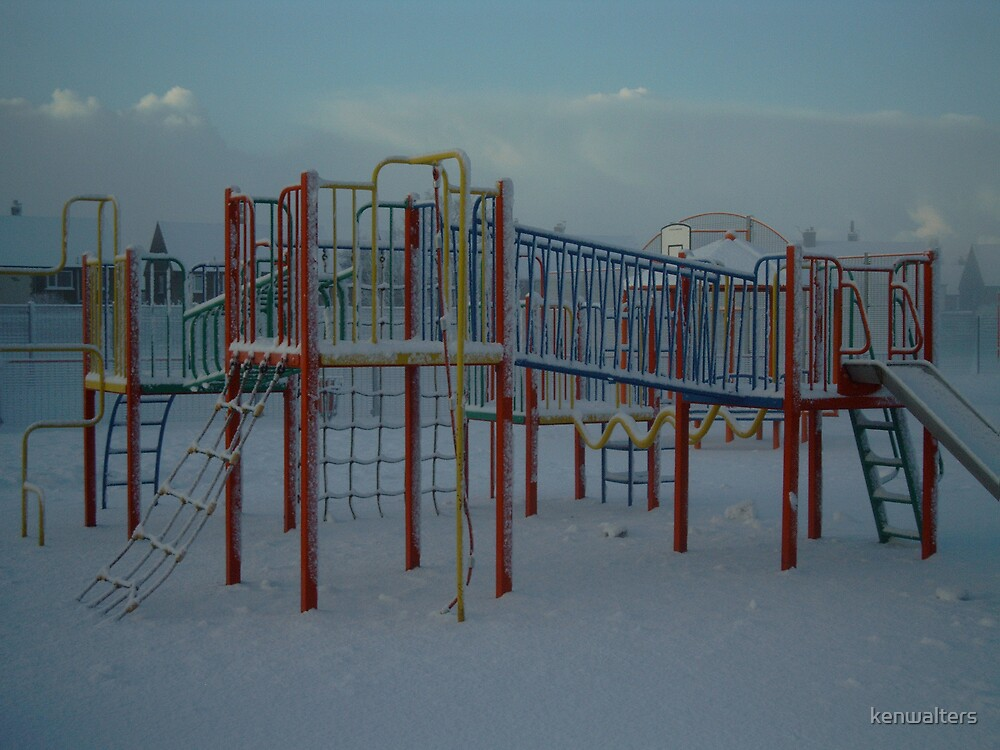 Snow covered play frame by kenwalters