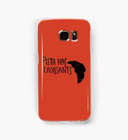 The Baker Has Croissants (Black Design) Samsung Galaxy Case/Skin