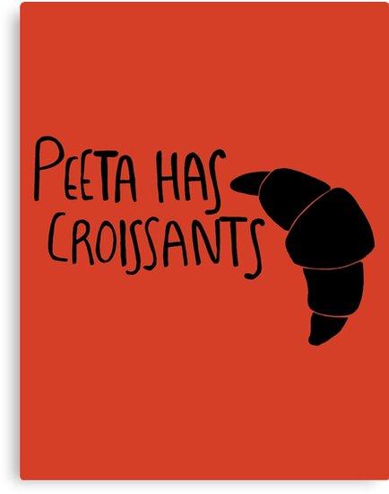The Baker Has Croissants (Black Design) by 4everYA