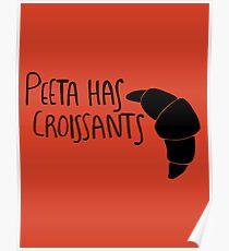 The Baker Has Croissants (Black Design) Poster