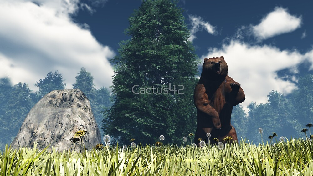 Le cri de l'ours / The cry of the bear by Cactus42