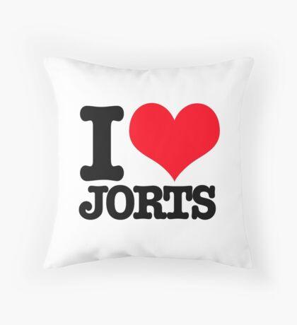 I <3 Jorts Throw Pillow